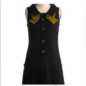 MODCLOTH 8000 Nerves black retro dress HTF